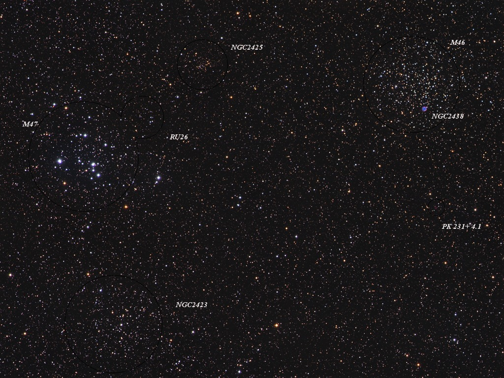 Open Clusters M6 M47
